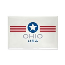 Ohio-Star Stripes: Rectangle Magnet