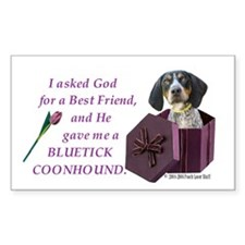 Bluetick Coonhound Rectangle Decal