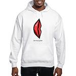 Vertical Smile Hooded Sweatshirt