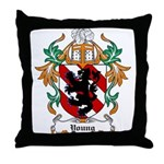 Young Coat of Arms Throw Pillow
