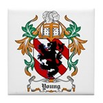 Young Coat of Arms Tile Coaster