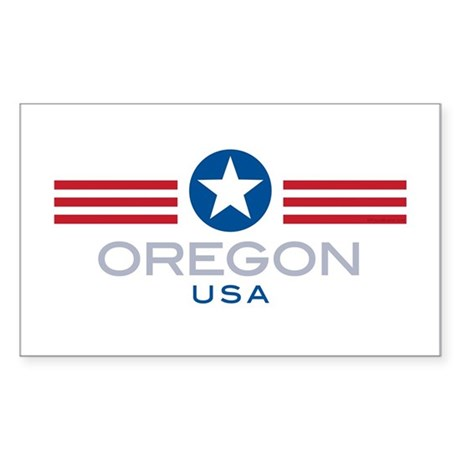Oregon-Star Stripes: Rectangle Sticker