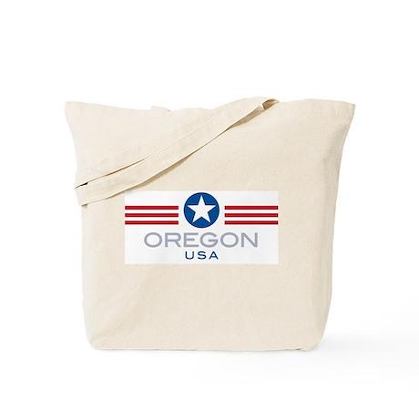 Oregon-Star Stripes: Tote Bag