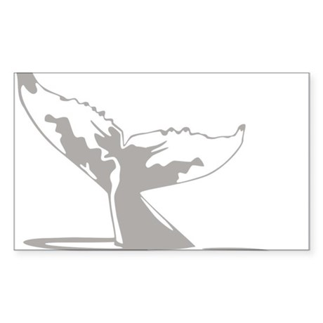Humpback Whale Tail Sticker (Rectangle)