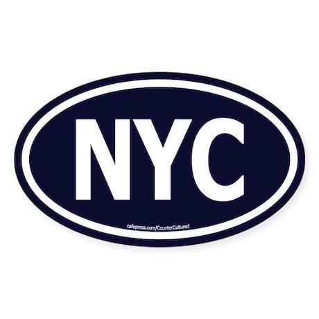 New York Euro Oval Sticker