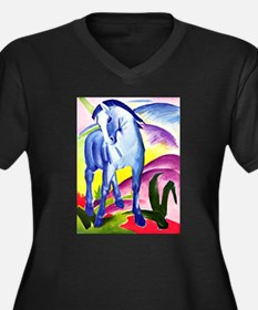 Franz Marc - Blue Horse I Women's Plus Size V-Neck