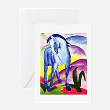 Franz Marc - Blue Horse I Greeting Card