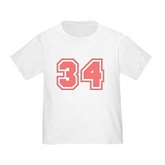 Varsity Uniform Number 34 (Pink) T