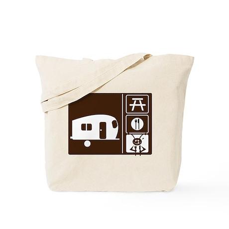 Funny Camping Sign Tote Bag