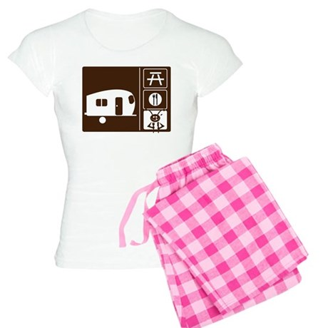 Funny Camping Sign Women's Light Pajamas