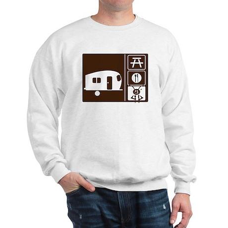 Funny Camping Sign Sweatshirt