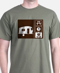 Funny Camping Sign T-Shirt