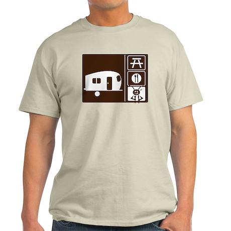 Funny Camping Sign Light T-Shirt