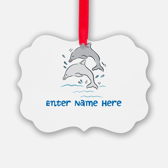 Personalized Dolphins Ornament