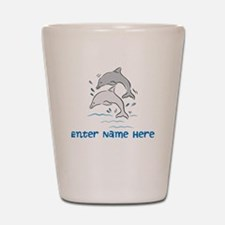 Personalized Dolphins Shot Glass