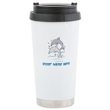 Personalized Dolphins Stainless Steel Travel Mug