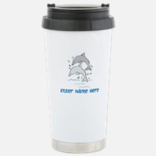 Personalized Dolphins Travel Mug
