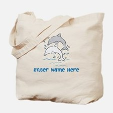 Personalized Dolphins Tote Bag