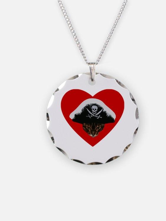 Love Pirate Cat Necklace