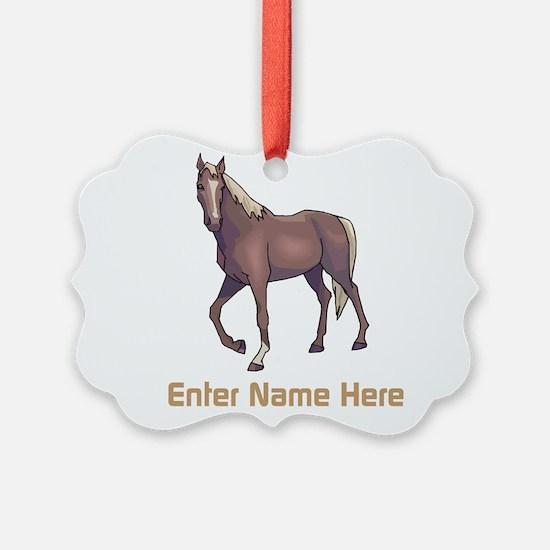 Horse Christmas Ornament  CafePress