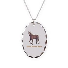 Personalized Horse Necklace
