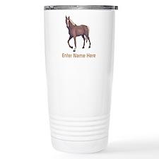 Personalized Horse Thermos Mug