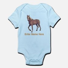 Personalized Horse Infant Bodysuit