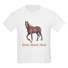 Personalized Horse Kids Light T-Shirt