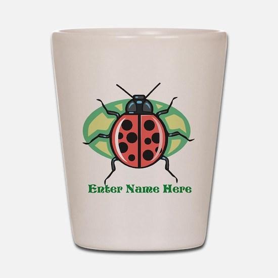 Personalized Ladybug Shot Glass