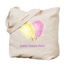 Personalized Cotton Candy Tote Bag