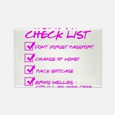 Holiday Check List Rectangle Magnet (10 pack)