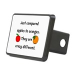 Apples Oranges Rectangular Hitch Cover