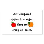 Apples Oranges Sticker (Rectangle 10 pk)