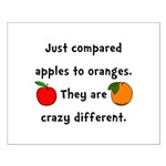 Apples Oranges Small Poster