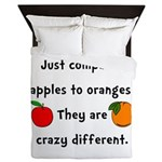 Apples Oranges Queen Duvet