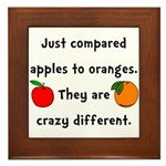 Apples Oranges Framed Tile