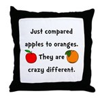 Apples Oranges Throw Pillow