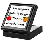 Apples Oranges Keepsake Box