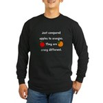 Apples Oranges Long Sleeve Dark T-Shirt