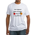 Apples Oranges Fitted T-Shirt