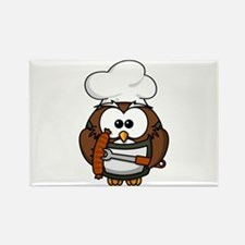 BBQ Cook Owl Rectangle Magnet (10 pack)