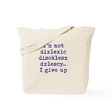 dyslexia joke Tote Bag