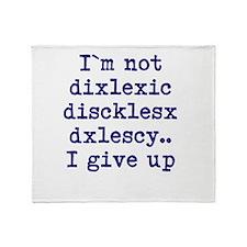 dyslexia joke Throw Blanket