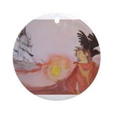 The Dark Tower Watercolor Painting Ornament (Round