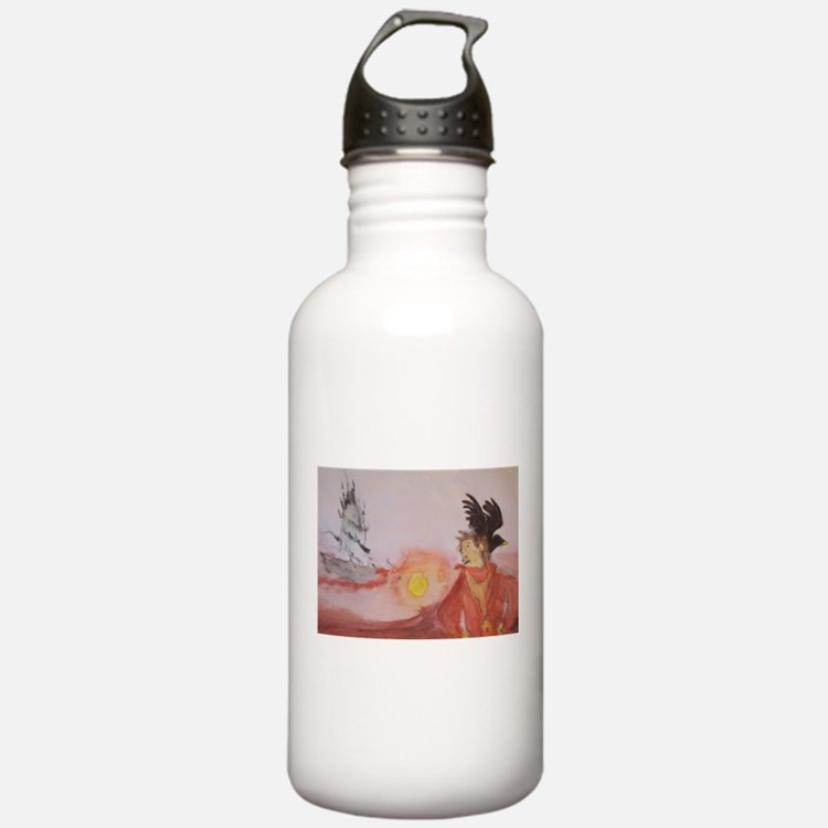 The Dark Tower Watercolor Painting Water Bottle