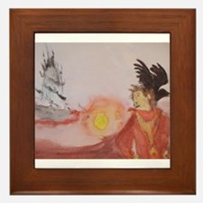 The Dark Tower Watercolor Painting Framed Tile