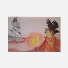 The Dark Tower Watercolor Painting Rectangle Magne