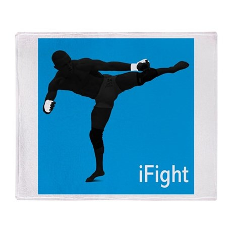 iFight (blue) Throw Blanket