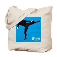 iFight (blue) Tote Bag