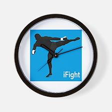 iFight (blue) Wall Clock